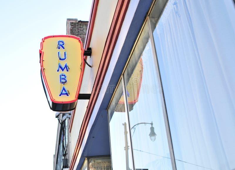 Latim Nigthclub da rumba e restaurante fotografia de stock royalty free