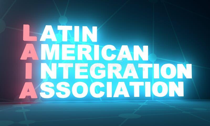Latin - akronym för amerikanIntgration anslutning arkivbilder