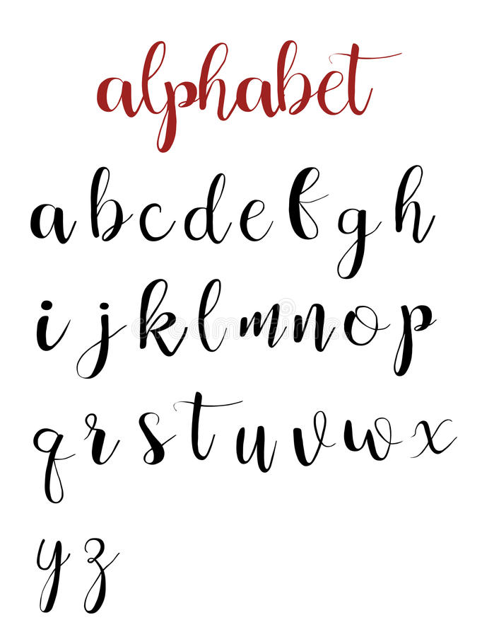 Download Latin Alphabet Letters On A White Background Stock Vector