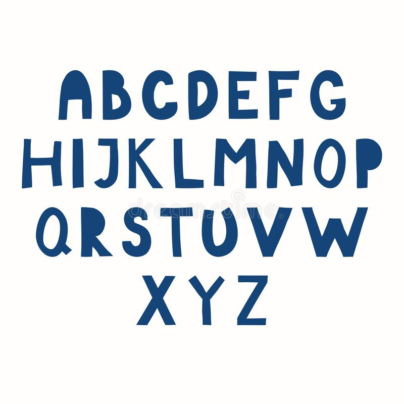 Latin alphabet in paper cut style royalty free illustration