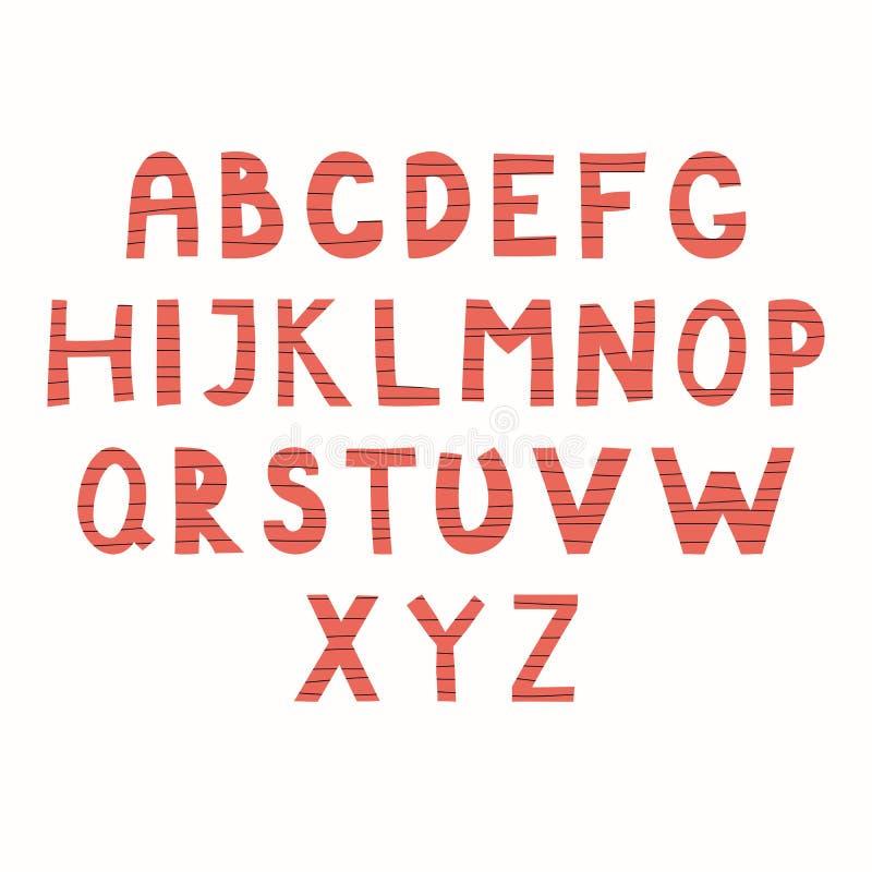Latin alphabet in paper cut style vector illustration