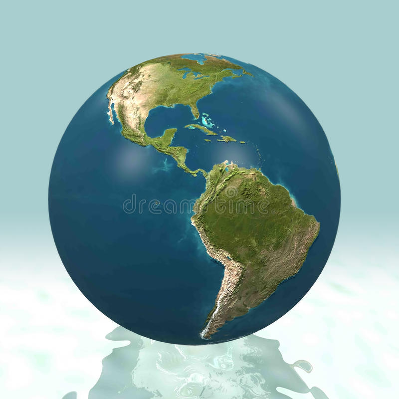 Download Latin America 3D World stock illustration. Image of amazon - 12155966