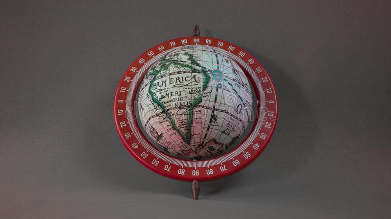 Latin america on earth globe with gray background. Minimalist style stock images