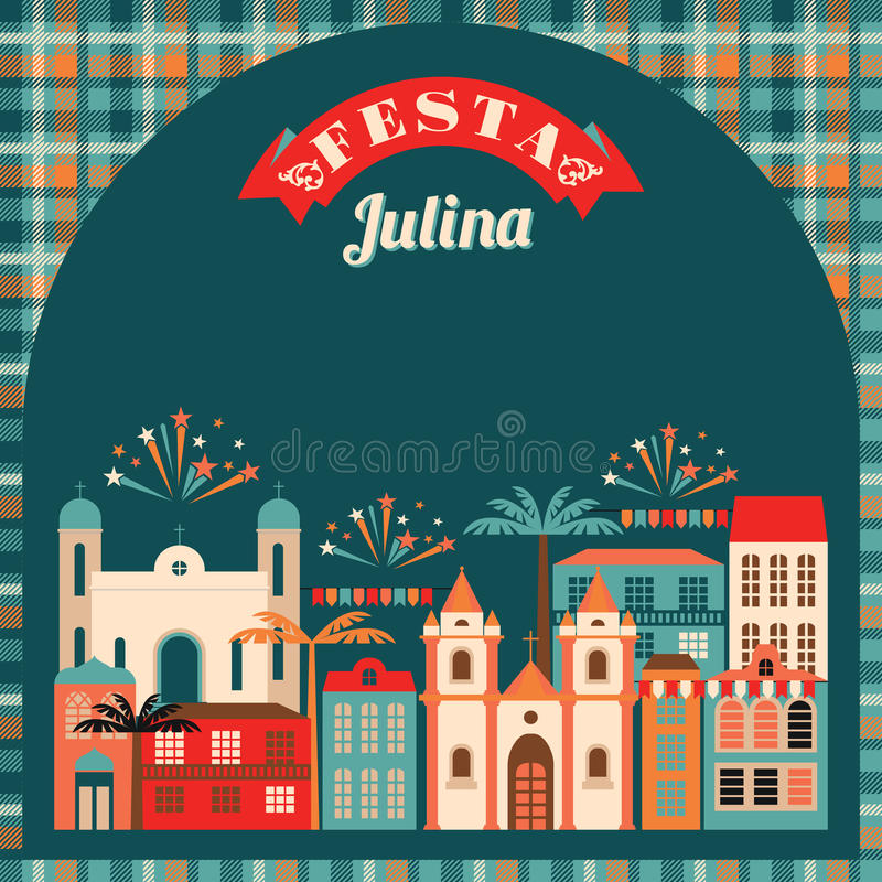 Latin American holiday, the June party of Brazil. royalty free illustration
