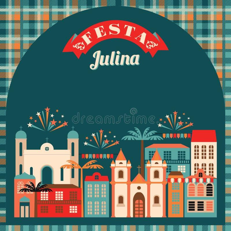 Latin - amerikansk ferie, det Juni partiet av Brasilien royaltyfri illustrationer