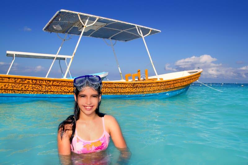 Download Latin Beach Teen Girl Caribbean Goggles Vacation Stock Image - Image: 18501923