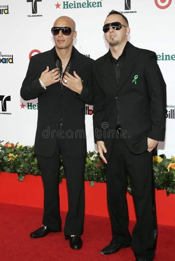 2008 Latin Billboard Awards. Alexis Y Fido arrive on the red carpet for the 2008 Latin Billboard Awards at the Seminole Hard Rock Hotel and Casino in Hollywood royalty free stock photo