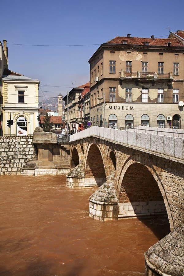Latin Bridge in Sarajevo. Bosnia and Herzegovina stock image