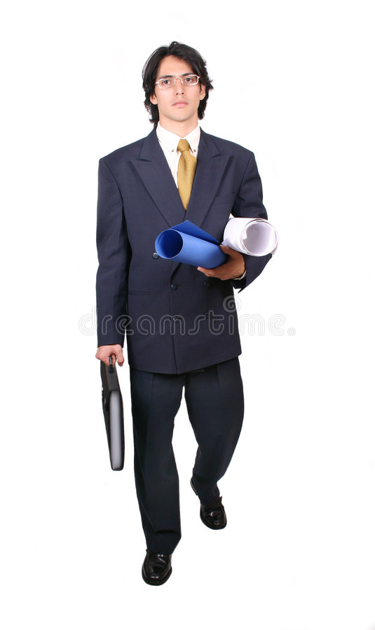 Latin Business man ready to work stock photo