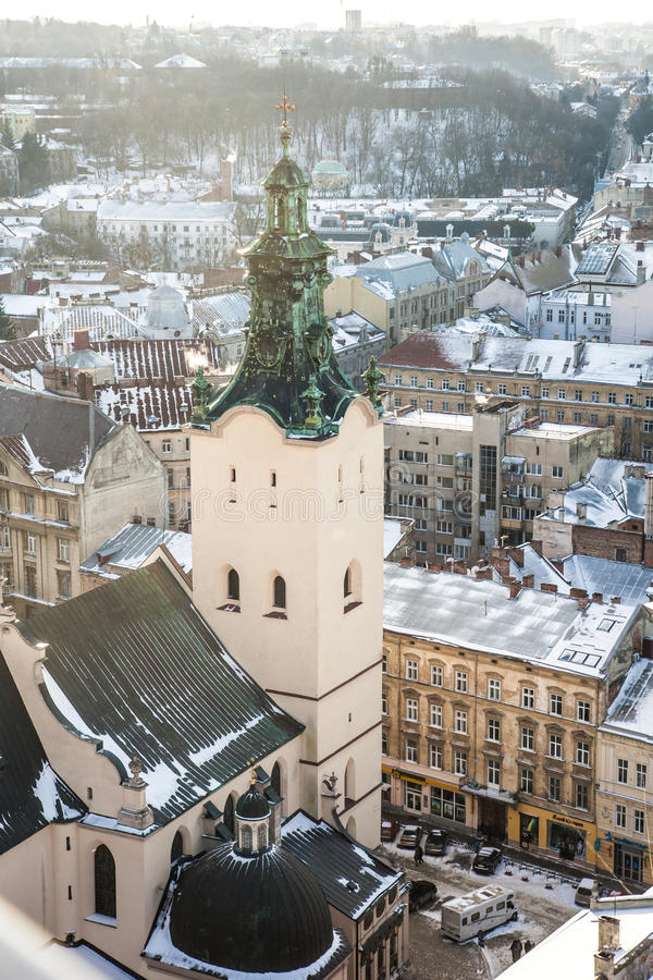 Latin Cathedral. In the city of Lviv stock images
