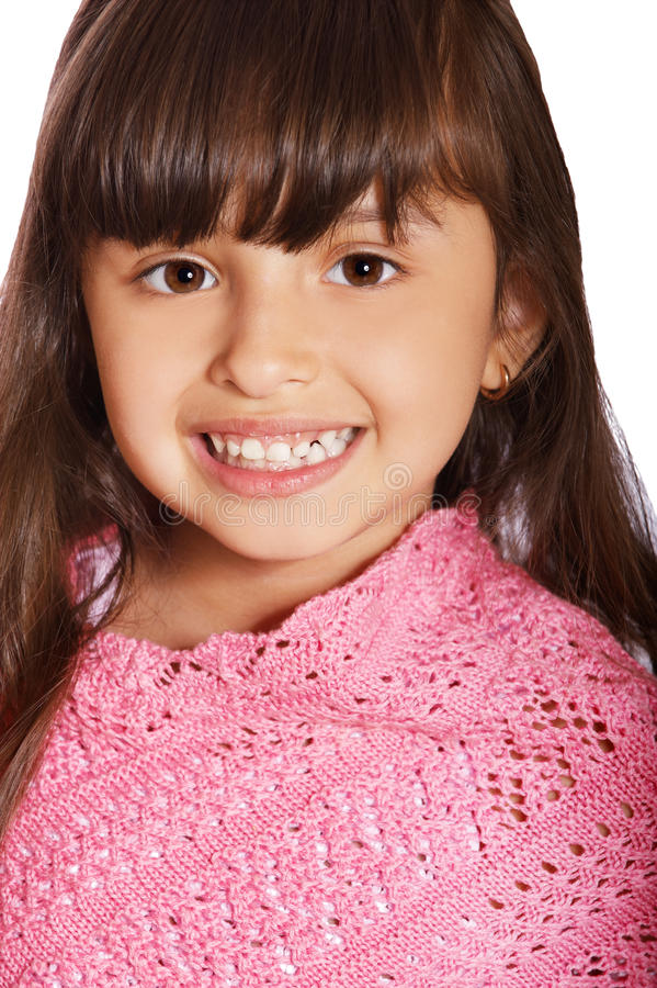 Latin child girl stock images