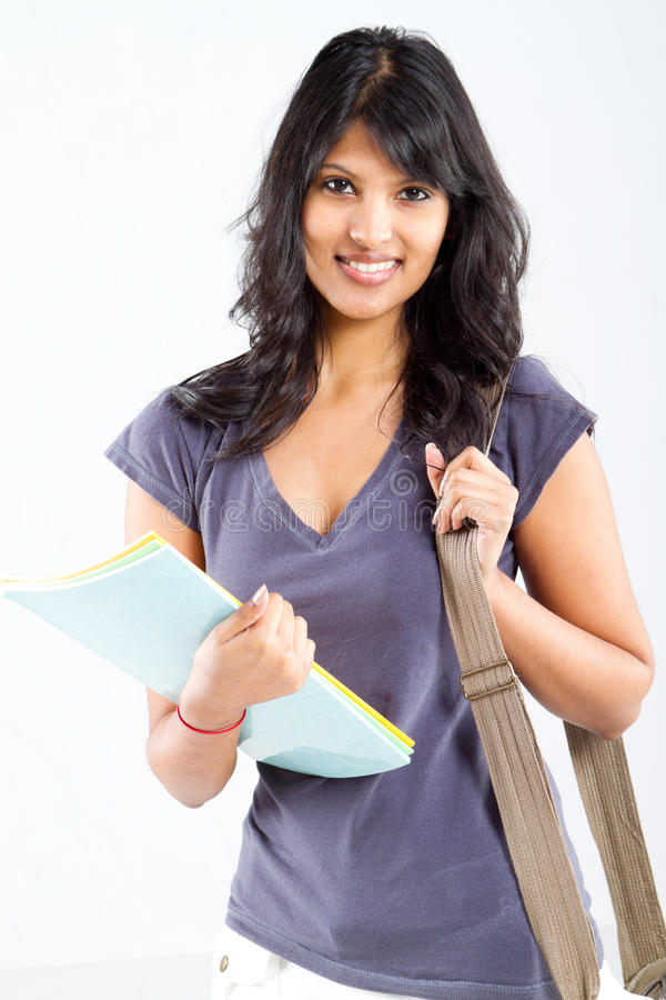 Latin college student royalty free stock image