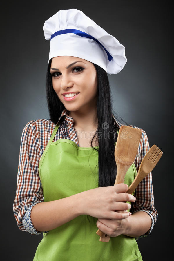 Latin Cook Woman Royalty Free Stock Photography