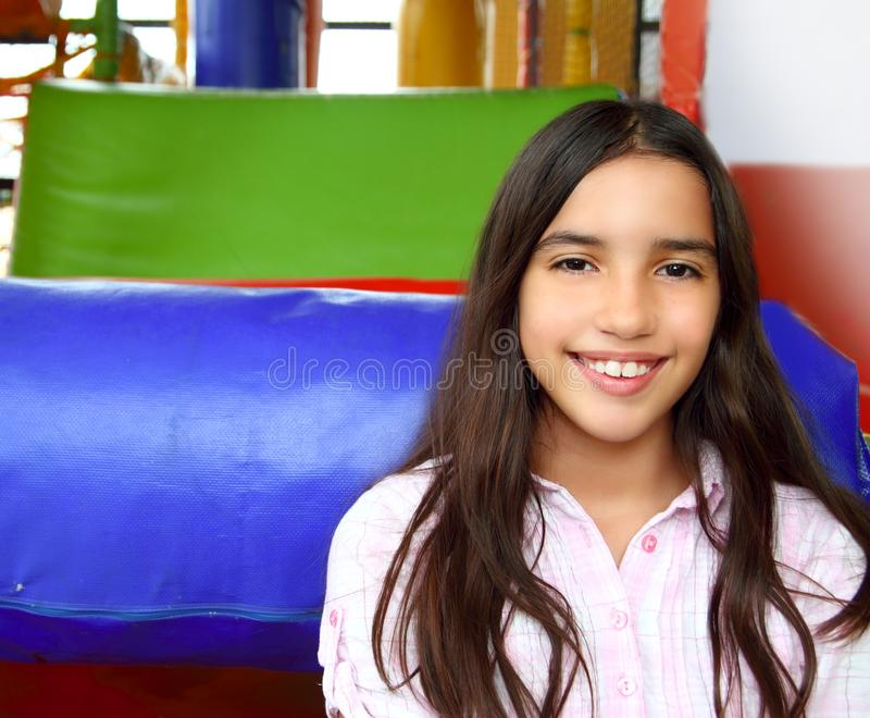 Latin indian teen girl smiling in playground. Latin indian teenager girl smiling in playground schoolgirl stock photography