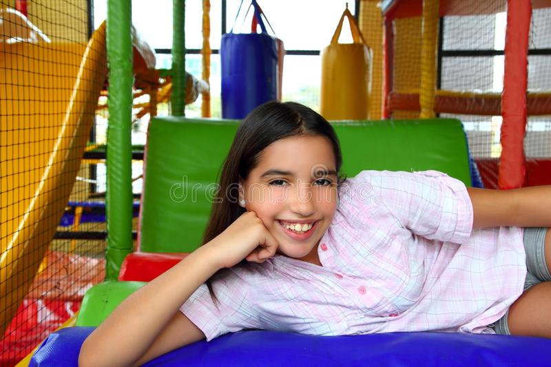 Latin indian teen girl smiling in playground. Latin indian teenager girl smiling in playground schoolgirl stock images