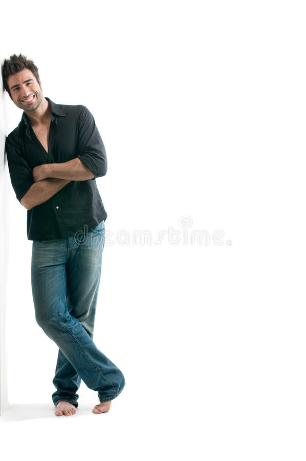 Download Latin Man Against White Wall Stock Photo - Image: 10598560
