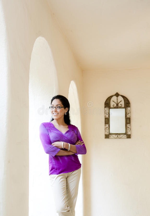 Download Latin Woman with Mirror stock photo. Image of mirror - 28540366