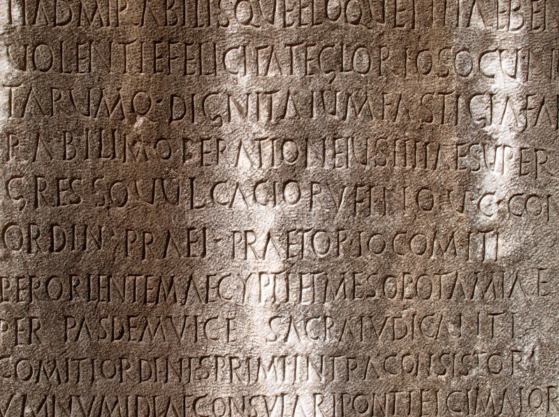 Download Latin writing stock image. Image of site, latin, carved - 20566909