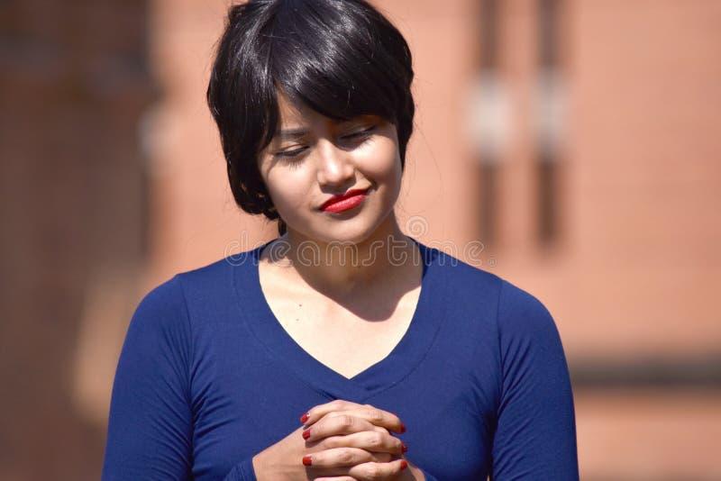 Latina Żeński modlenie zdjęcia stock