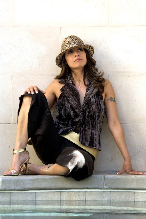 Latina Fedora royalty free stock photography