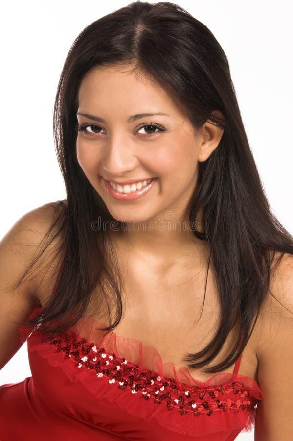 Latina-Frauen-Abschluss oben stockfoto