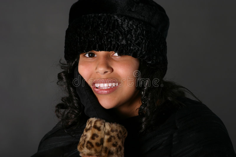 Download Latina Girl With Hat Stock Image - Image: 8357621