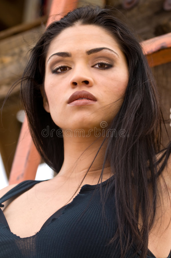 Latina Headshot stock foto