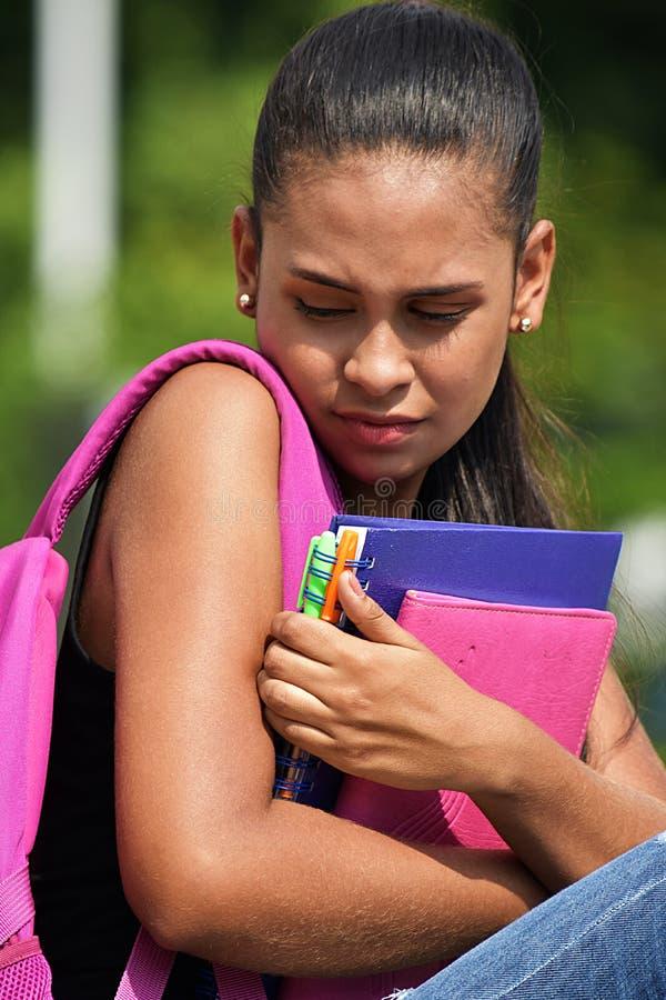 Latina-Jugendliche-Student And Fear lizenzfreies stockbild
