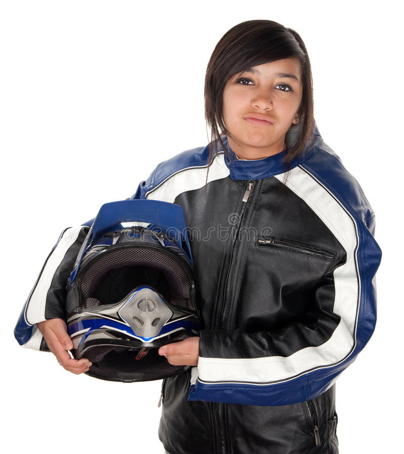 Latina Teen Racer stock photos