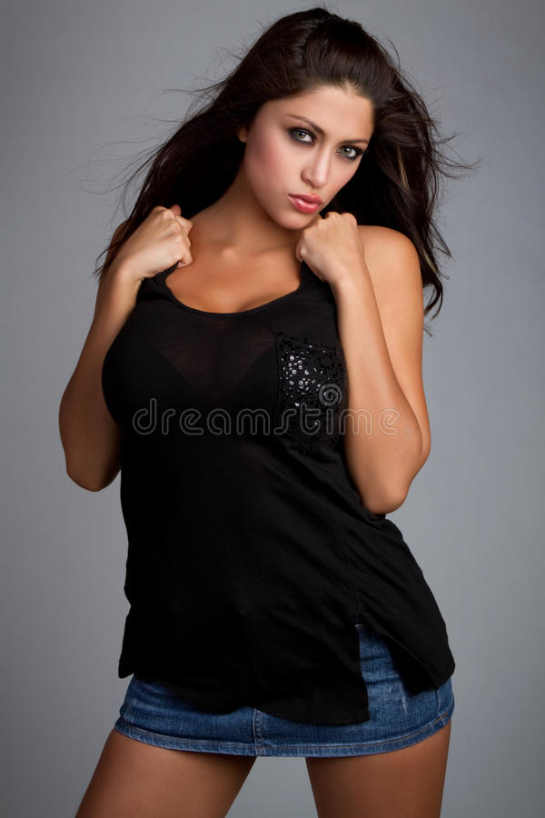 Download Latina Woman stock image. Image of beautiful, serious - 14859149