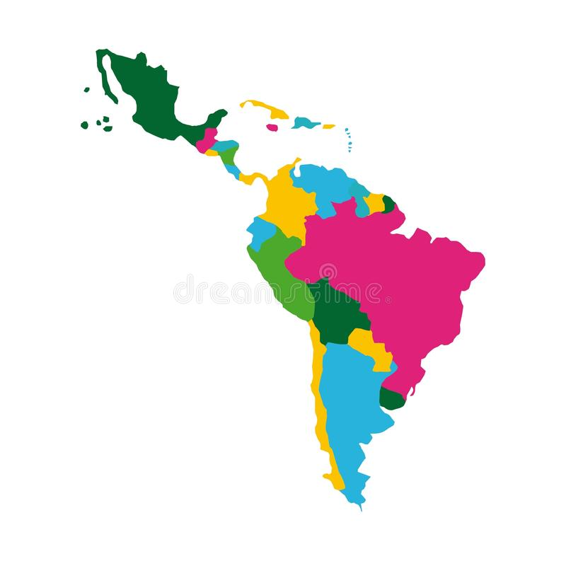 Latinamerikaöversikt stock illustrationer
