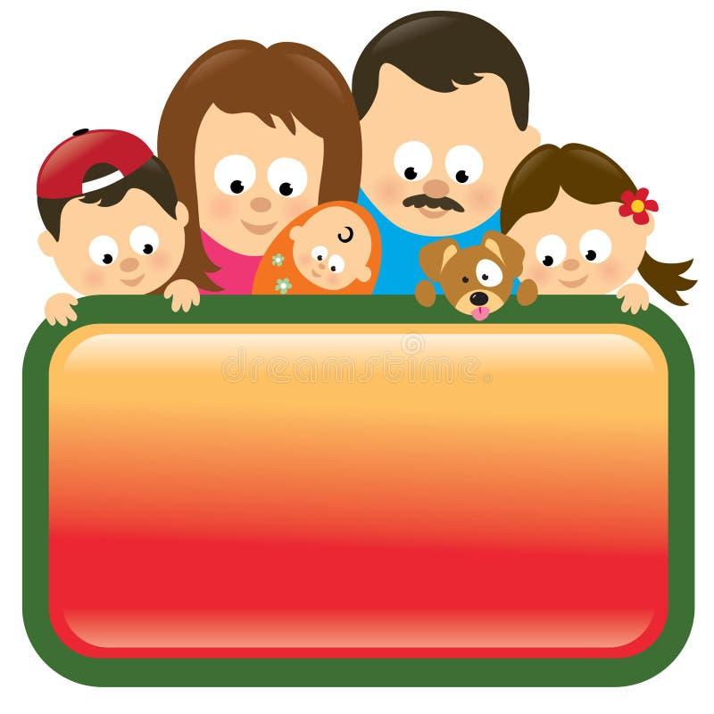 latinamerikanskt holdingtecken för familj royaltyfri illustrationer