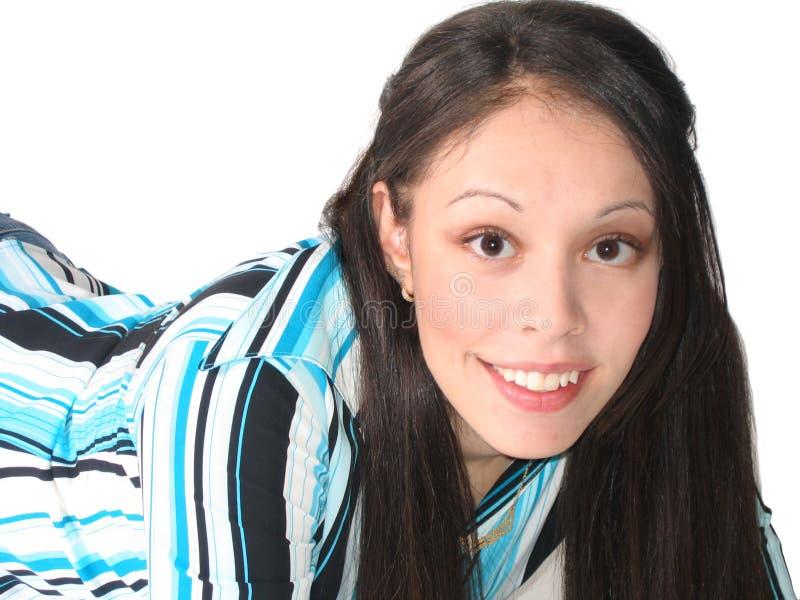 latinamerikanskt kvinnabarn royaltyfri fotografi