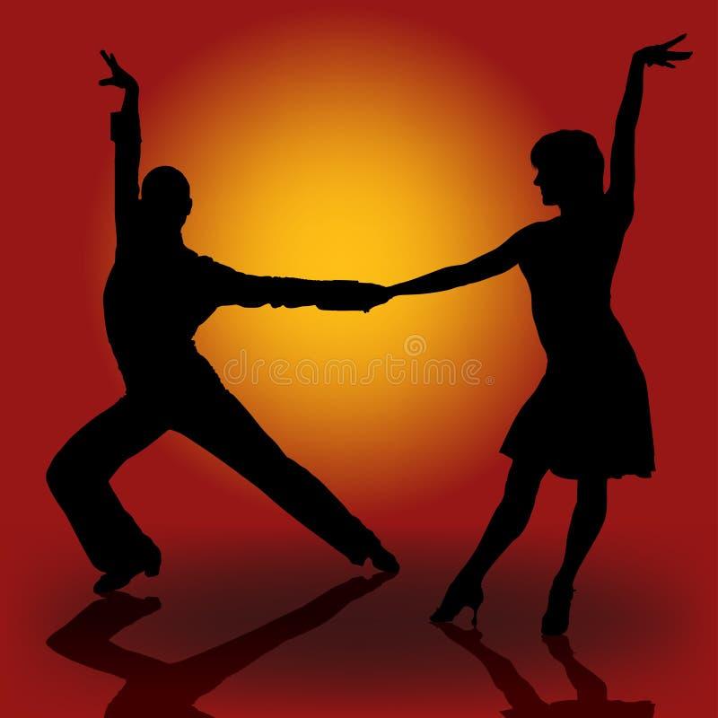 Download Latino Dancers stock vector. Illustration of vector, burning - 8857639