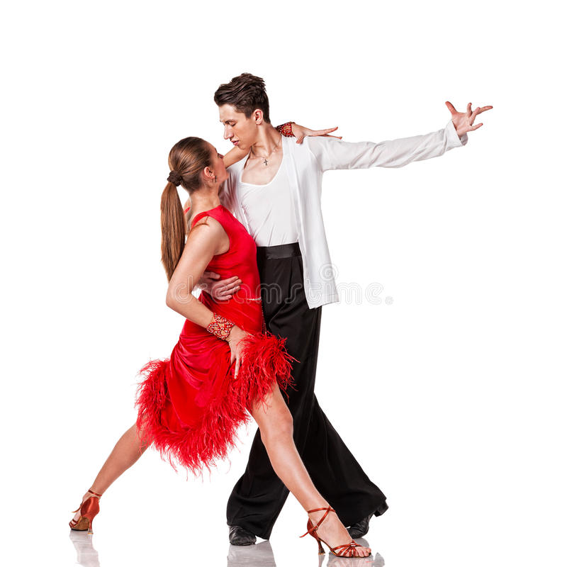 Download Latino Dancers In Action. Isolated Stock Photo - Image of exercise, caucasian: 34897640