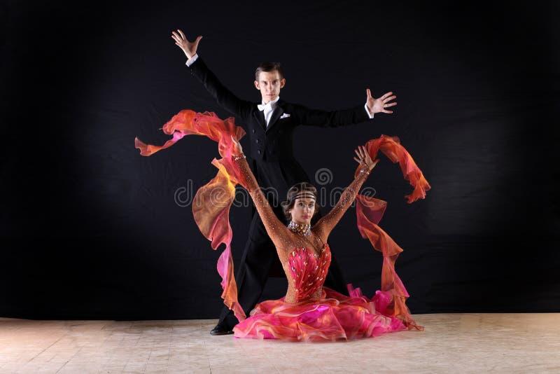 Download Latino dancers in ballroom stock image. Image of emotion - 34006259