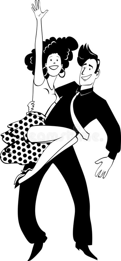 Latino dancing clip-art royalty free illustration