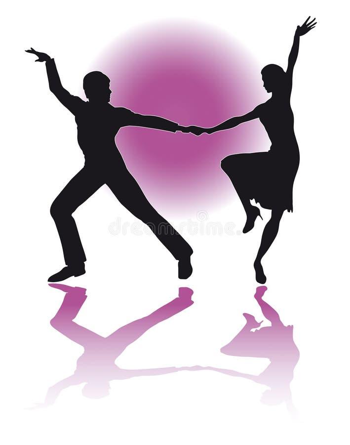 Latino/EPS del baile de los pares stock de ilustración