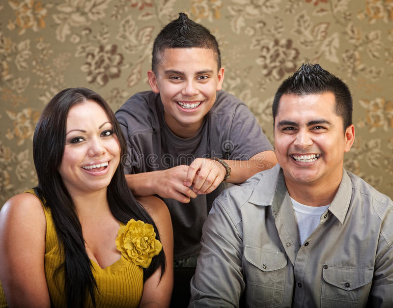 Latino Family Laughing Together