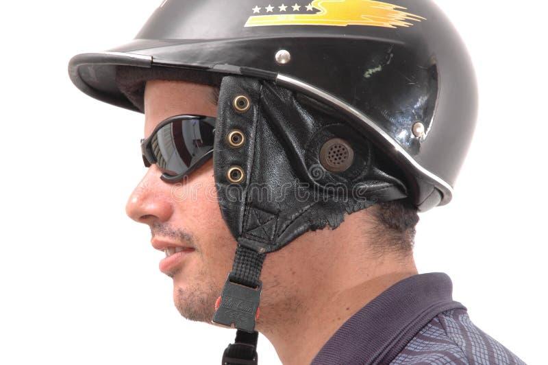 Latino motorcycle man stock photo