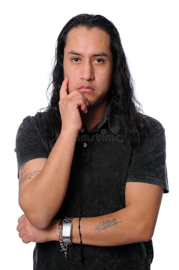 Latino Thinking stock photo