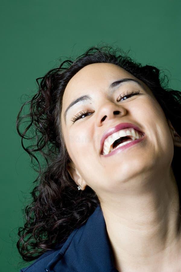 Latino woman laughing royalty free stock photos
