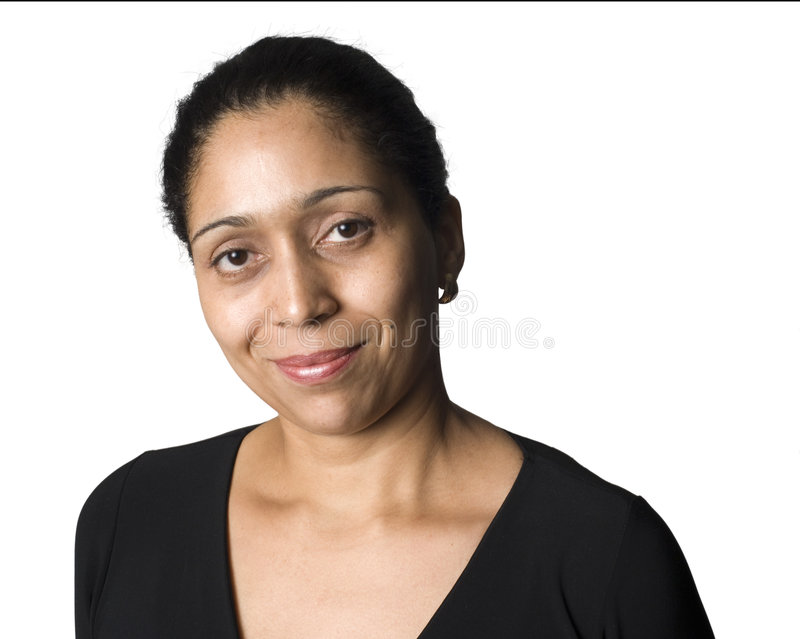 Latino woman smiling royalty free stock image
