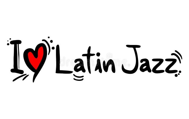 Latinsk förälskelse för jazzmusik vektor illustrationer