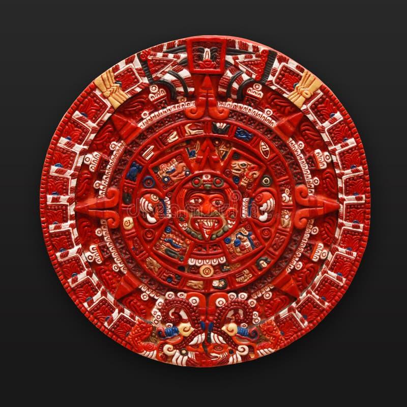latinsk sten Amerika för aztec kalender arkivbilder