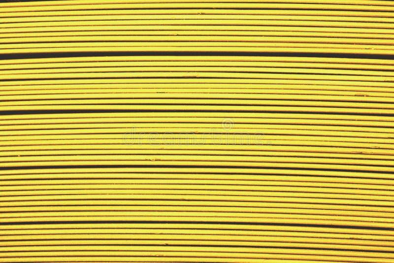 Latje van het opstellings het gele metaal royalty-vrije stock fotografie