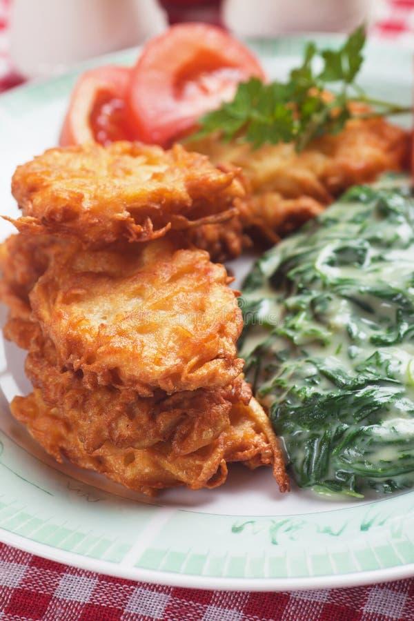 Latke, kartoflany blin obrazy stock