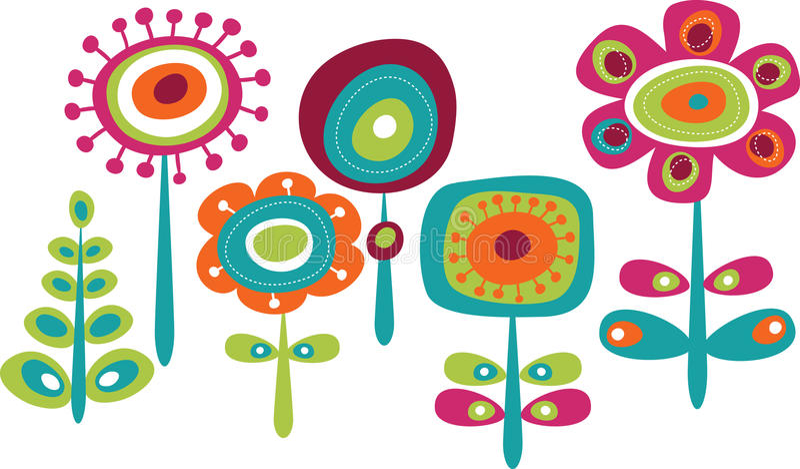 Lato śliczni kolorowi kwiaty ilustracji