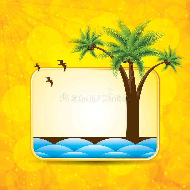 Lato żółty tło ilustracja wektor