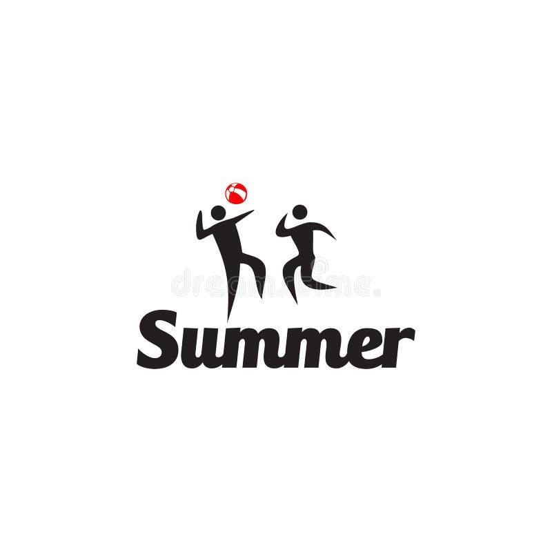 Lato aktywności logo projekta wektoru plażowy szablon ilustracji